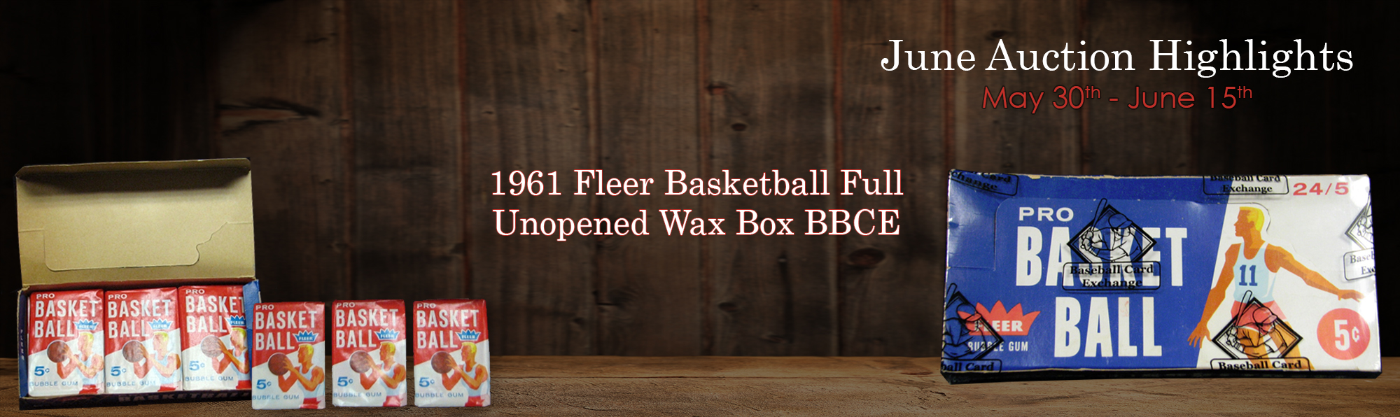 1961 Fleer Basketball Full Unopened Wax Box BBCE