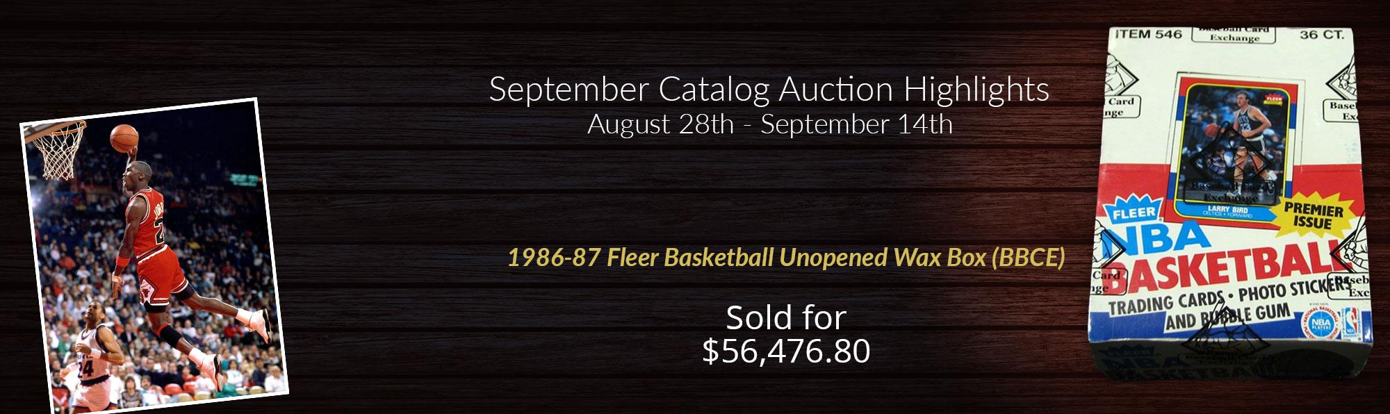 1986-87 Fleer Unopened Basketball Box