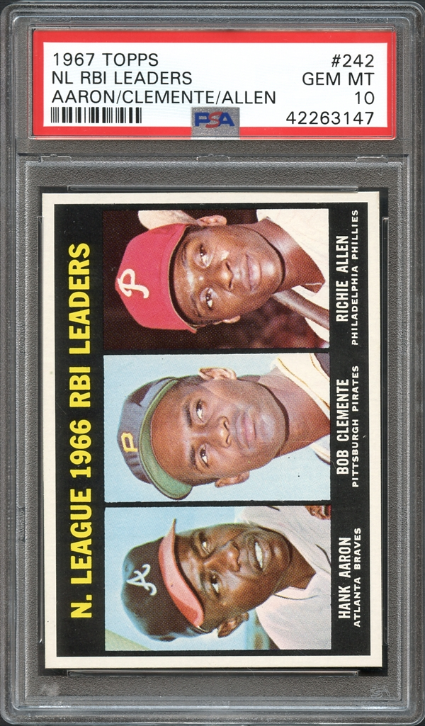 1967 Topps NL RBI Leaders