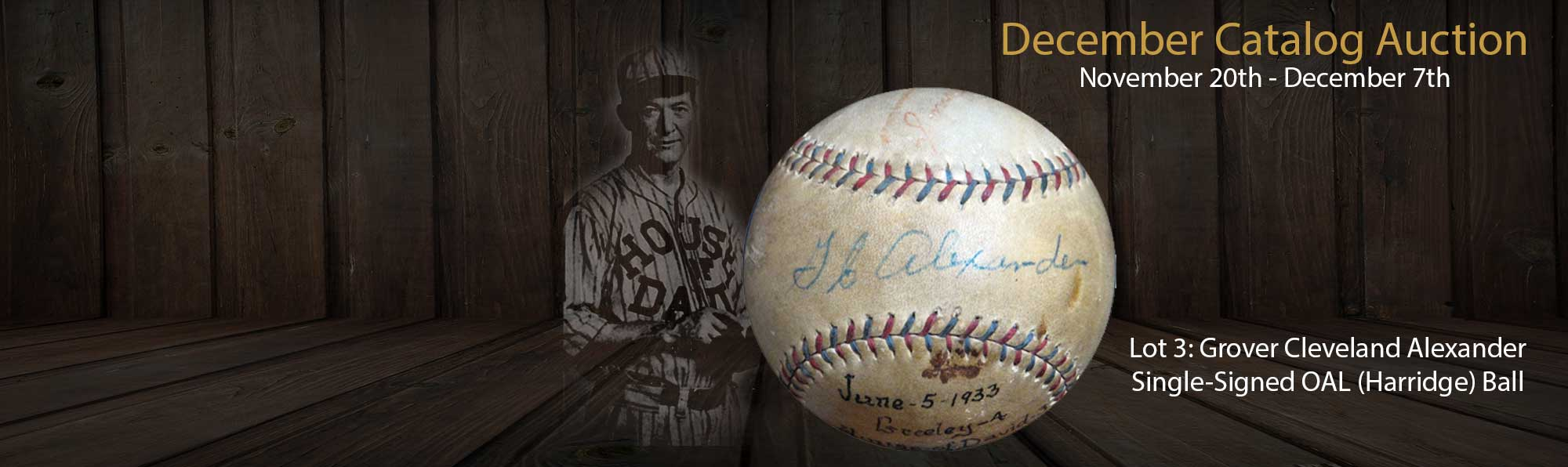 Grover Cleveland Alexander Signed Ball