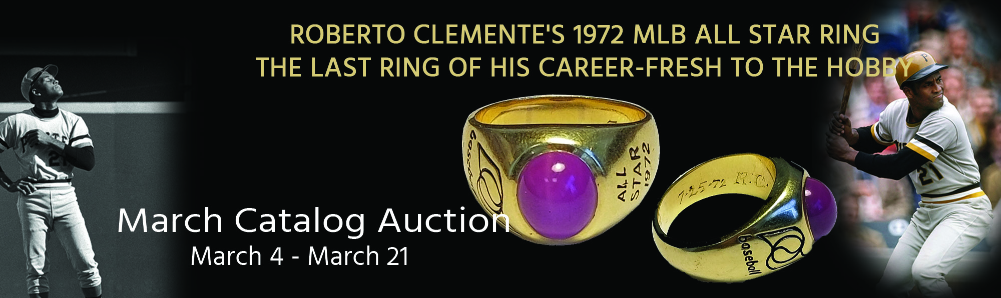 Roberto Clemente's 1972 MLB All Star Ring - The Last Ring of his Career