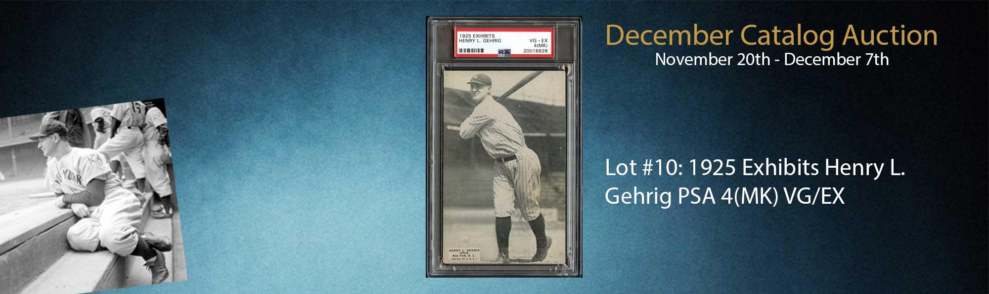 1925 Exhibits Lou Gehrig PSA 4