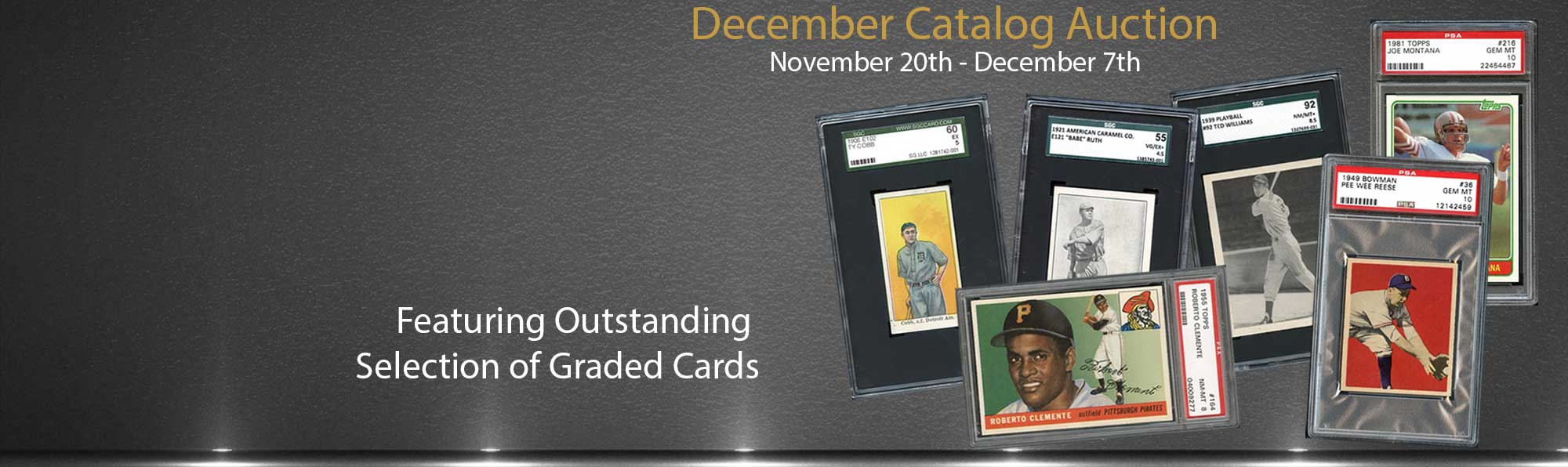 Outstanding Selection of Graded cards