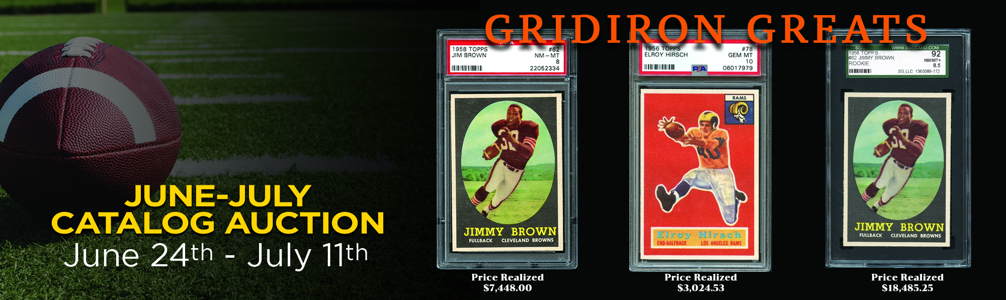 Gridiron Greats Graded Cards