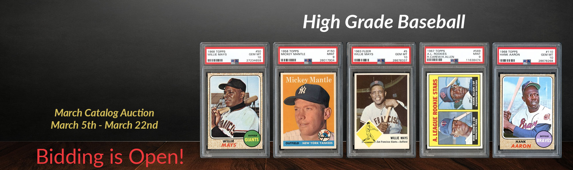 High Grade Baseball Cards