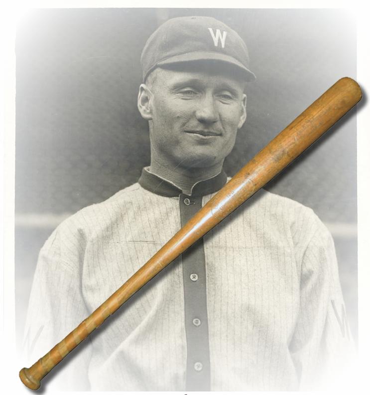 walter johnson game-used bat