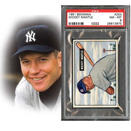 vintage, t206, baseball, mickey mantle