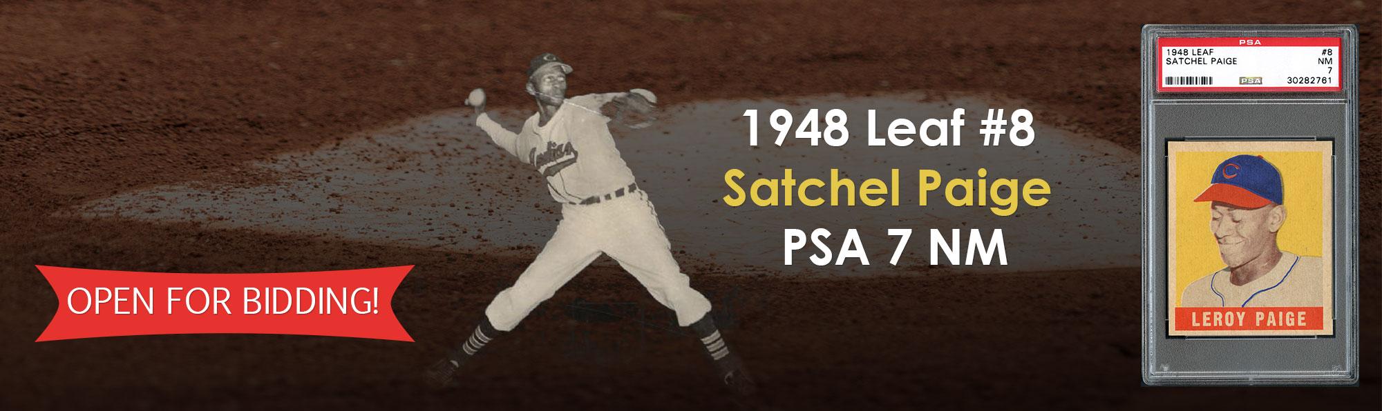1948 Leaf #3 Satchell Paige PSA 8