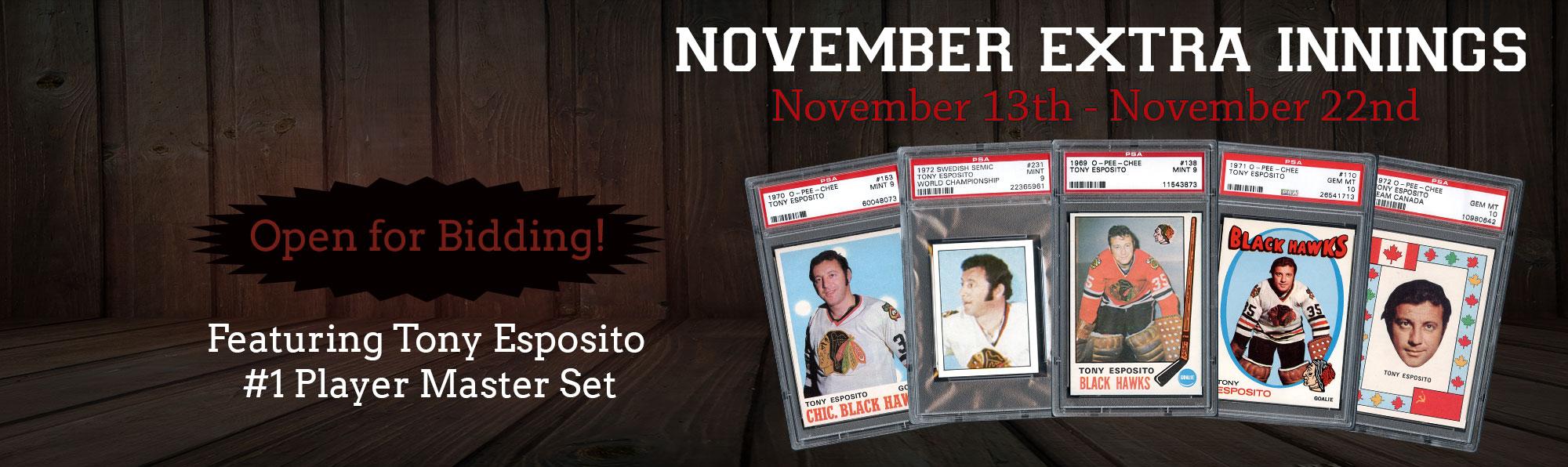 Tony Esposito #1 Player Master Set