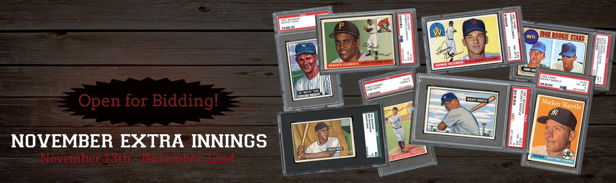 November Extra Innings Auction