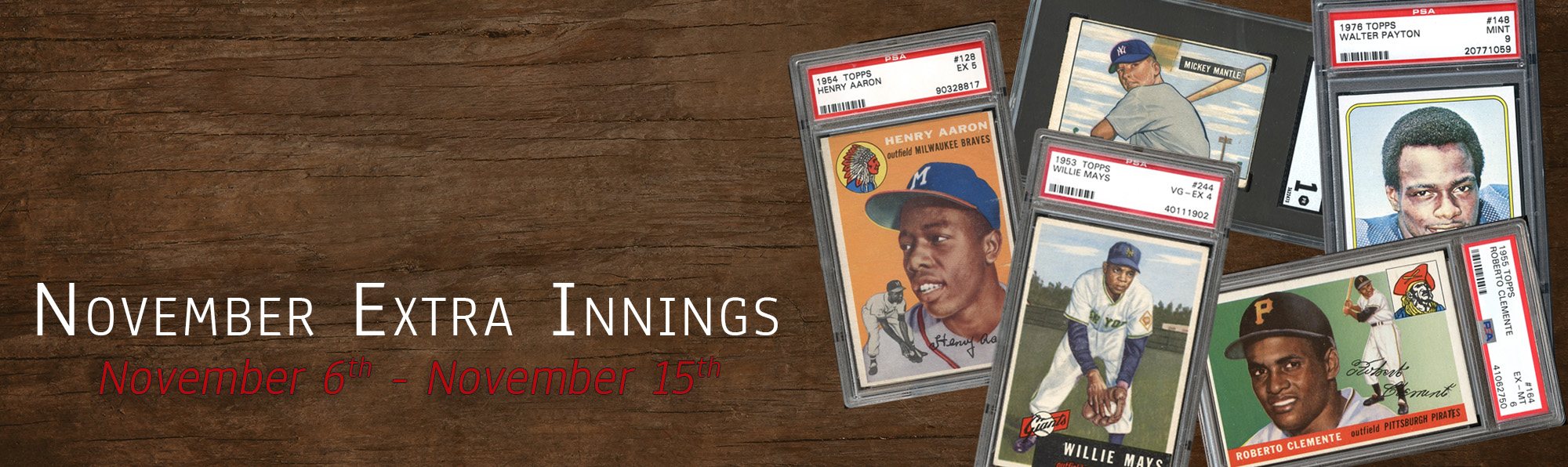 Our November Extra Innings auction opens today at 10:30am EST and runs through December 14th