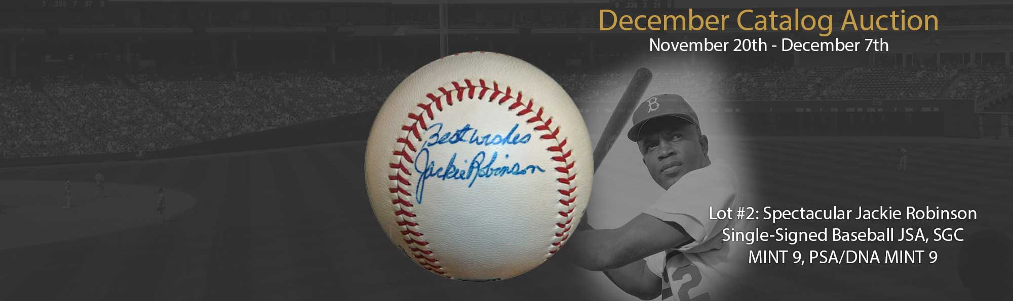 Spectacular Jackie Robinson Signed Ball