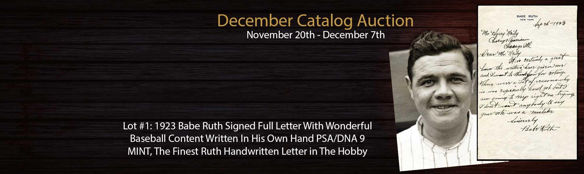 Babe Ruth Handwritten Letter