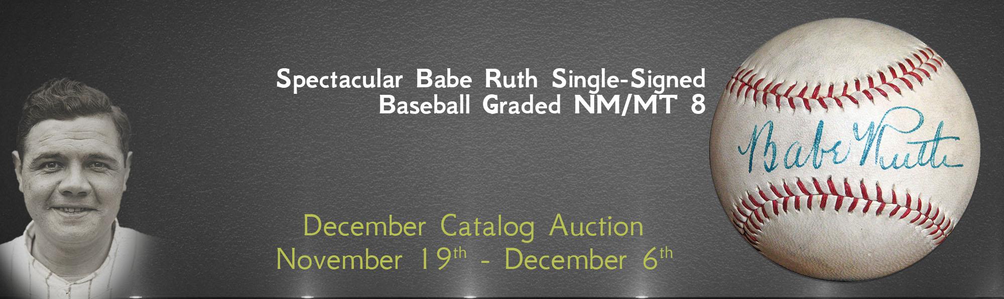 Single-Signed Babe Ruth Baseball