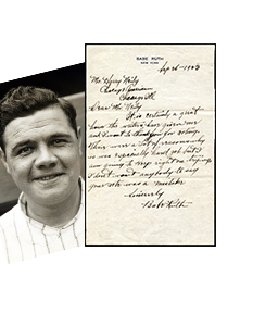 vintage baseball, sports cards, Babe Ruth