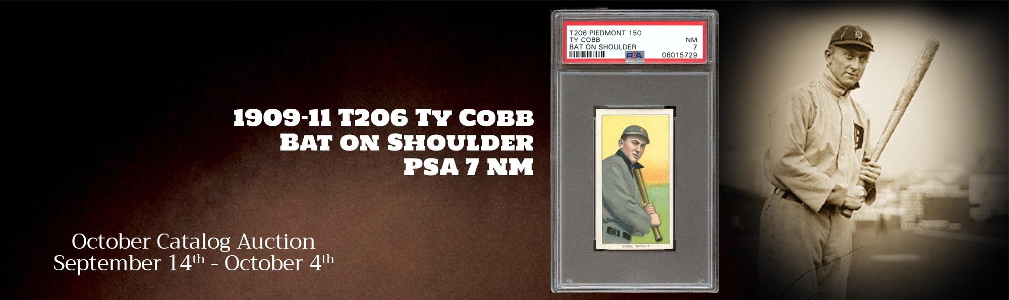 T206 Ty Cobb Bat on Shoulder