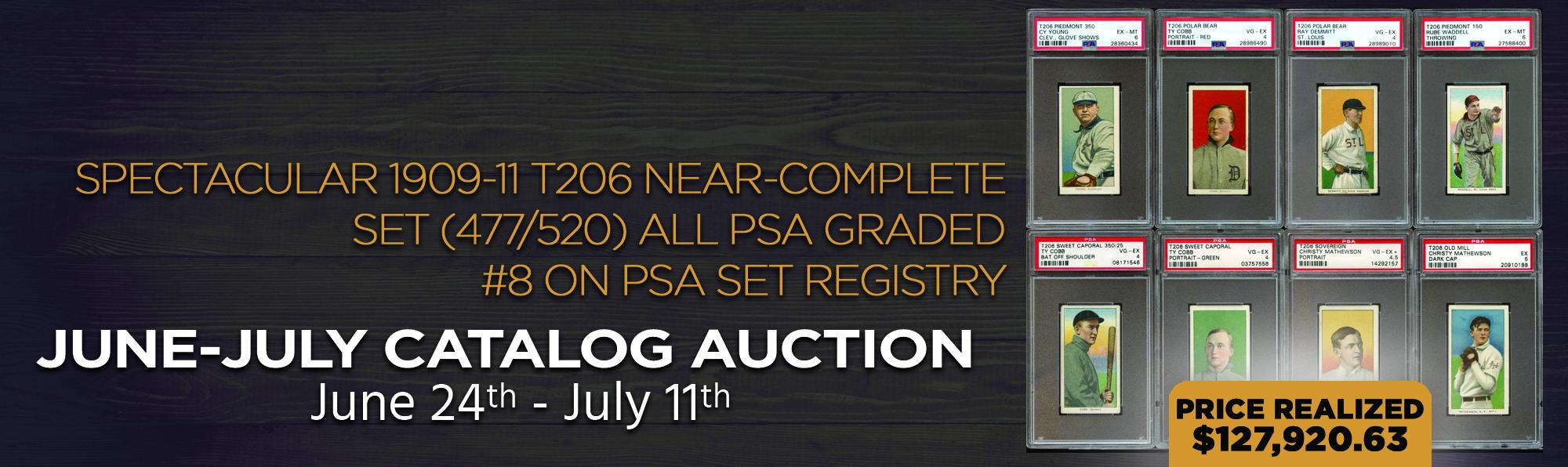 Spectacular 1909-11 T206 Near-Complete Set (477/520) All PSA Graded #8 on PSA Set Registry