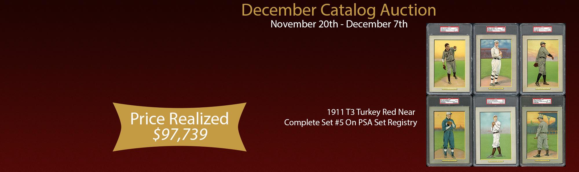 1911 T3 Turkey Red Near Complete Set #5 On PSA Set Registry