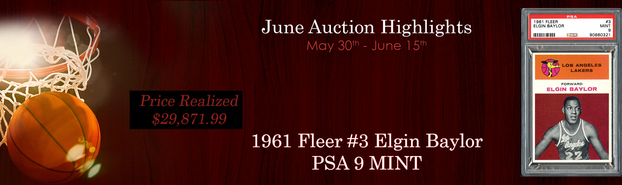 Thank you for participating in another amazing auction