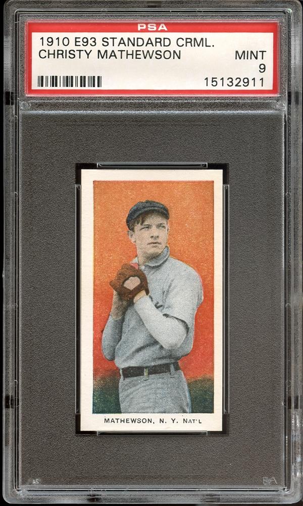 vintage, baseball, mathewson, e93