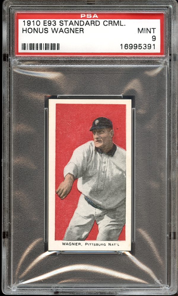 wagner, e93, vintage sports card